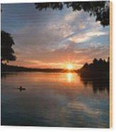 Sunset Panther Lake Wood Print