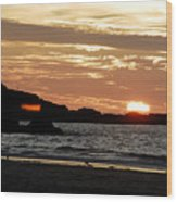 Sunset Part 3 Wood Print