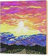 Sunset Pearblossom Highway Wood Print