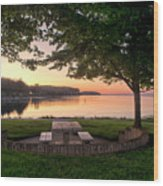 Sunset Picnic Wood Print