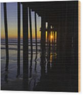 Sunset Pismo Beach Wood Print