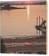 Sunset, Portland, Maine  -07817 Wood Print