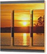 Sunset Poster Wood Print