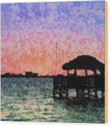 Sunset Prism Wood Print