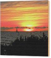 Sunset Punta Gorda Fl Wood Print