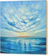 Sunset Quest Blue Wood Print
