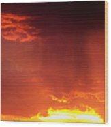 Sunset Rain Wood Print