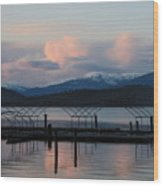 Sunset Reflecting Off Priest Lake Wood Print