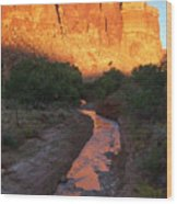 Sunset Reflection - Fremont River Wood Print