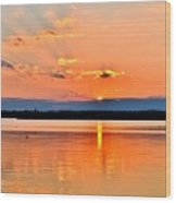 Sunset Reflections 2 Wood Print