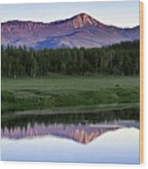 Sunset Reflections At Oxbow Bend Wood Print