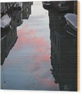 Sunset Reflections In Venice Wood Print