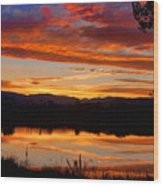 Sunset Reflections Wood Print