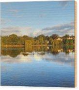 Sunset Reflections On The Lake Wood Print