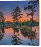 Sunset Reflections Wood Print