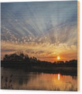 Sunset Refuge Wood Print