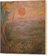 Sunset Rev. Wood Print