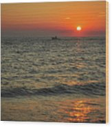 Sunset Ride Cape May Point Nj Wood Print