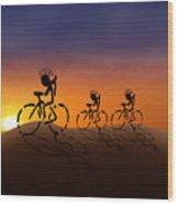 Sunset Riders Wood Print