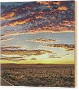 Sunset Road Wood Print