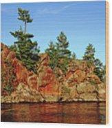 Sunset Rock Wood Print