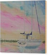 Sunset Sail 3 Wood Print