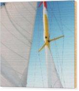 Sunset Sails 1 Wood Print