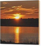 Sunset Salisbury Mass Wood Print