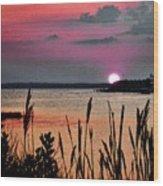 Sunset Scene Wood Print