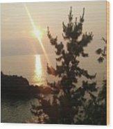 Sunset Scenic Wood Print