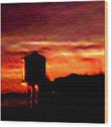 Sunset Se Wood Print
