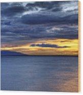 Sunset Seascape Alaska Wood Print