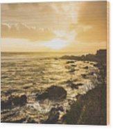 Sunset Seascape Wood Print