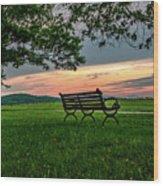Sunset Seating Wood Print