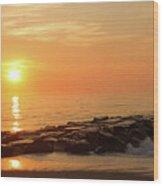 Sunset Shore Wood Print