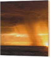 Sunset Shower Wood Print