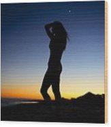 Sunset Silhouette #1 Wood Print