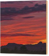 Sunset Silhouette H1816 Wood Print