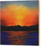 Sunset Sinai Wood Print
