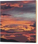 Sunset Skies 052814d Wood Print