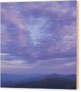 Sunset - Smoky Mountains  Wood Print