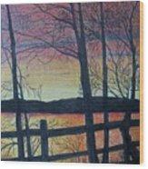Sunset Somewhere Wood Print
