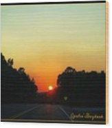 Sunset Spendor Wood Print