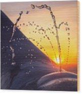 Sunset Spout 0017 Wood Print