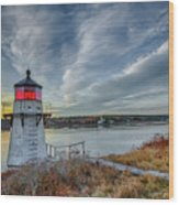 Sunset, Squirrel Point Lighthouse Wood Print