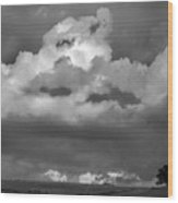 Sunset Storm  Clouds Wood Print