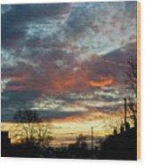 Sunset Street Wood Print