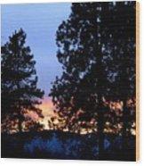 Sunset Strip Wood Print