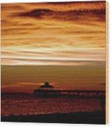 Sunset Stroll Along The Beach 2582 H_2 Wood Print