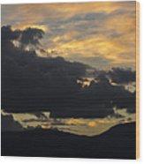 Sunset Study 5 Wood Print
